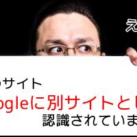 Googleは同じURLでも別サイトとして認識