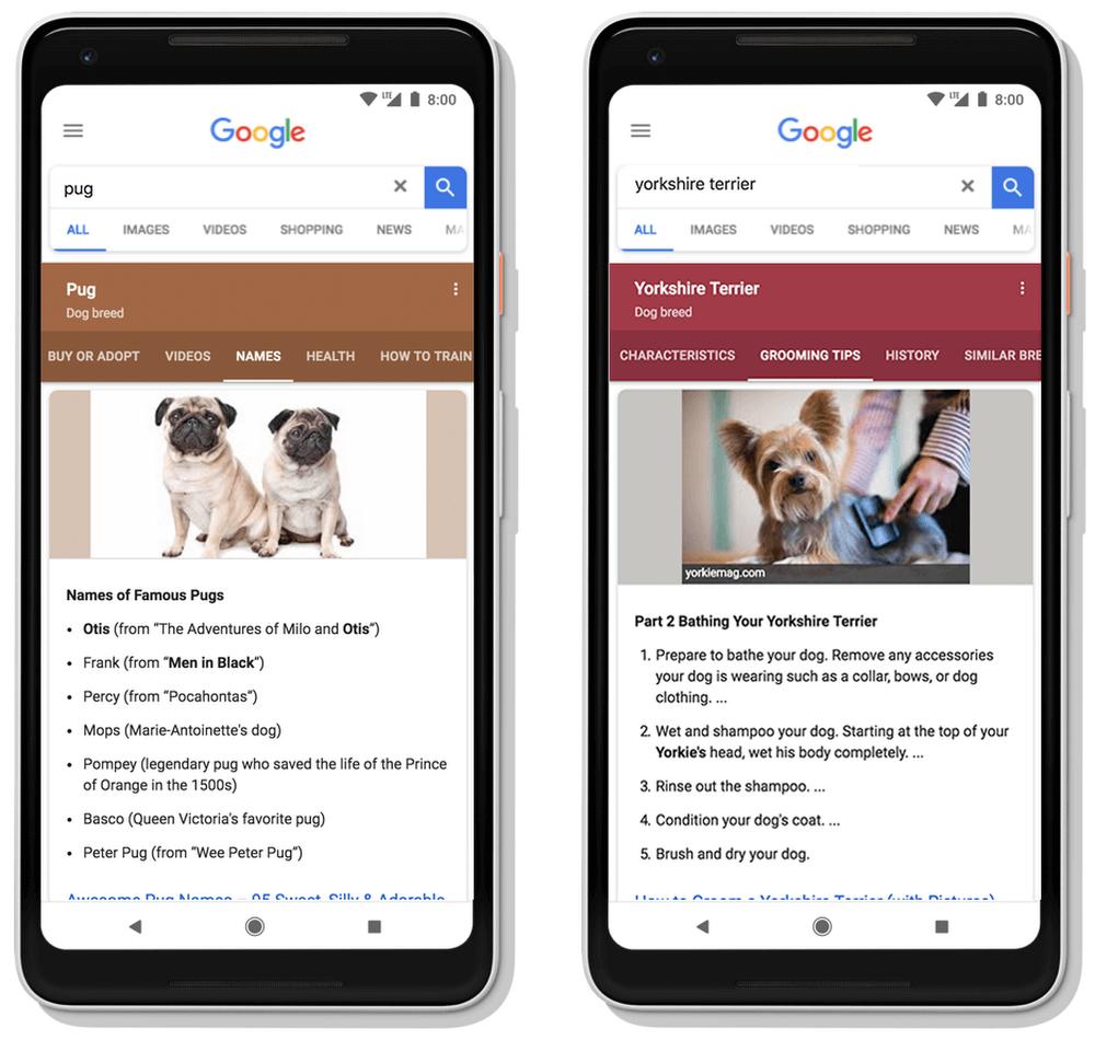 検索結果の動的構成