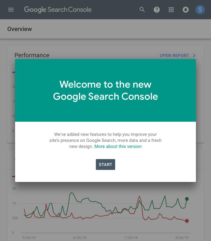 「新しいSearch Console」ベータ版を解除