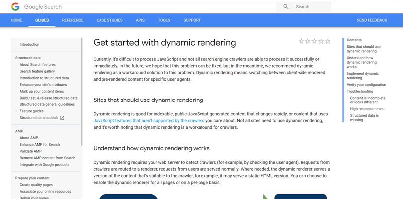 Get started with dynamic rendering
